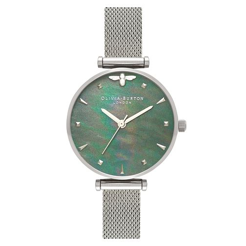 Olivia Burton 3D Bee Mother of Pearl Strap Watch - Product number 3945200