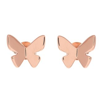 f1b0b7ce2aa435 Olivia Burton Rose Gold Metal Plated Butterfly Earrings - Product number  3945227