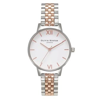 Olivia Burton Ladies' Two Colour White Dial Bracelet Watch - Product number 3945502