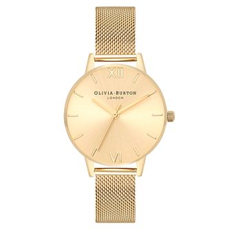 Olivia Burton Sunray Yellow Gold Metal Plated Bracelet Watch - Product number 3945529
