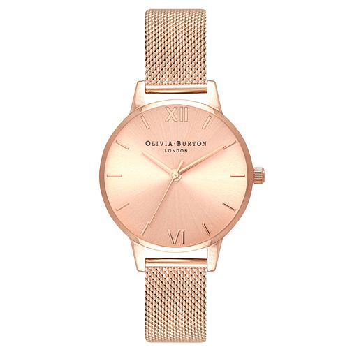 Olivia Burton Sunray Rose Gold Metal Plated Bracelet Watch - Product number 3945537