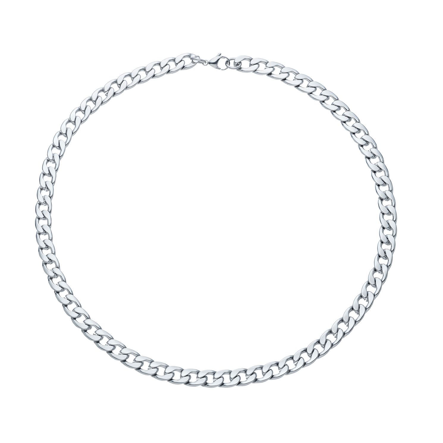 Stainless Steel 22 inches Men's Wide Curb Chain Necklace - Product number 3945553