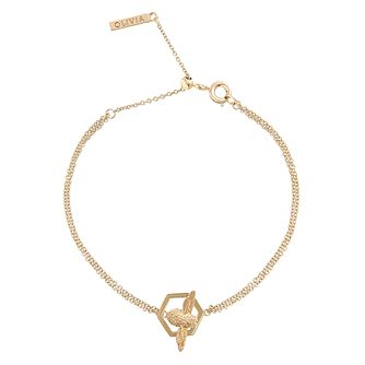 Olivia Burton Honeycomb Bee Gold Metal Plated Bracelet - Product number 3945650