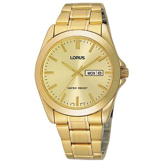 Lorus Men's Classic Gold Plated Bracelet Watch - Product number 3946207