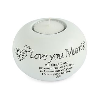 Said With Sentiment Love You Mum Tea Light Candle Holder - Product number 3946274