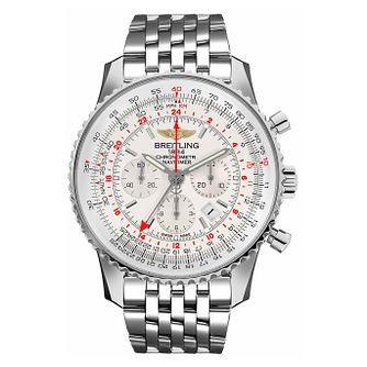 Breitling Navitimer GMT Stainless Steel Bracelet Watch - Product number 3947432