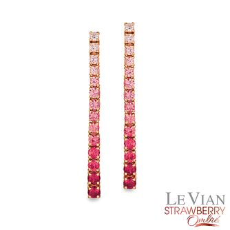 Le Vian 14ct Strawberry Gold Passion Ruby Ombre Earrings - Product number 3954072