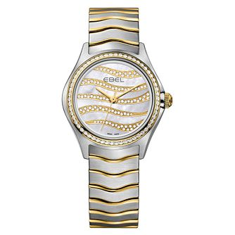 Ebel Wave Ladies' Two Colour Diamond Bracelet Watch - Product number 3955060