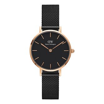 Daniel Wellington Classic Petite Ladies' Black Mesh Watch - Product number 3956032