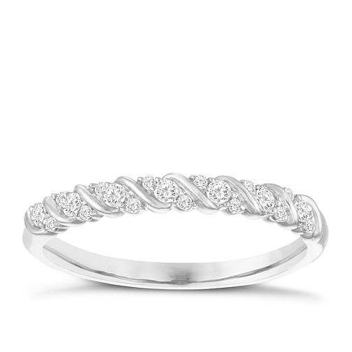 9ct White Gold 0.15ct Diamond Eternity Ring - Product number 3956369