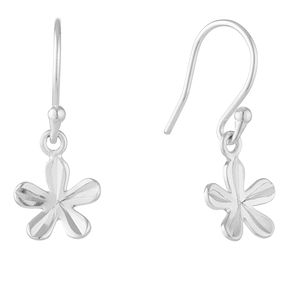 Sterling Silver Flower Drop Earrings - Product number 3959198