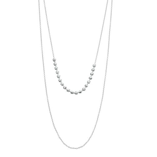 "Sterling Silver 16"" Multi Bead Necklace - Product number 3959848"