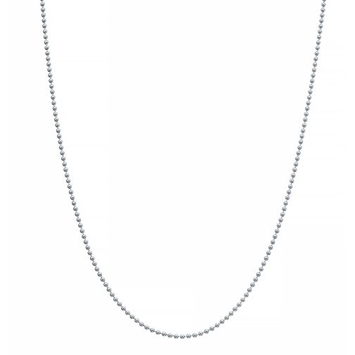 "Sterling Silver 30"" Beaded Necklace - Product number 3959880"