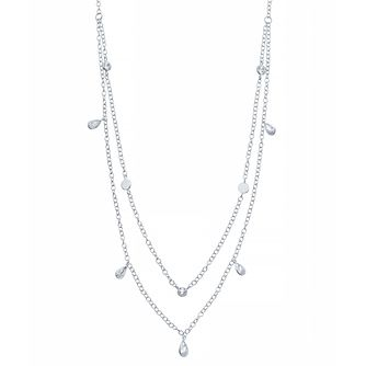 Sterling Silver Multi Bead Detail Necklace - Product number 3959899