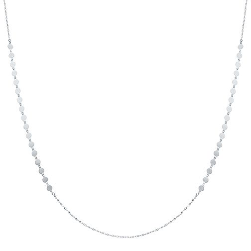 "Sterling Silver 28"" Disc Detail Chain Necklace - Product number 3959961"