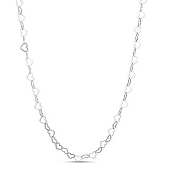 Sterling Silver Heart Link Necklace - Product number 3959988