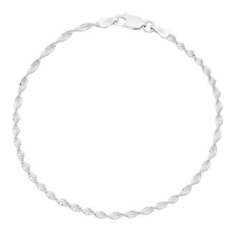 Sterling Silver Twisted Herringbone Bracelet - Product number 3960064
