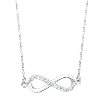 Sterling Silver Cubic Zirconia Infinity Pendant - Product number 3960080