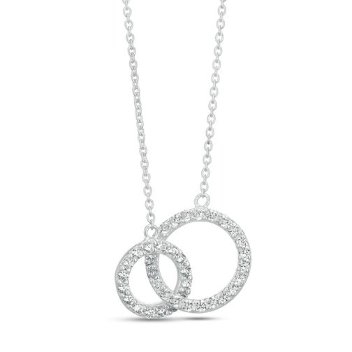 Sterling Silver Cubic Zirconia Interlinked Pendant - Product number 3960110