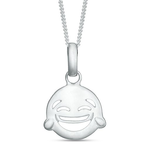 Sterling Silver Laughing Emoticon Pendant - Product number 3960153