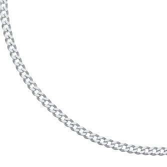 "Sterling Silver 20"" Curb Chain Necklace - Product number 3960242"