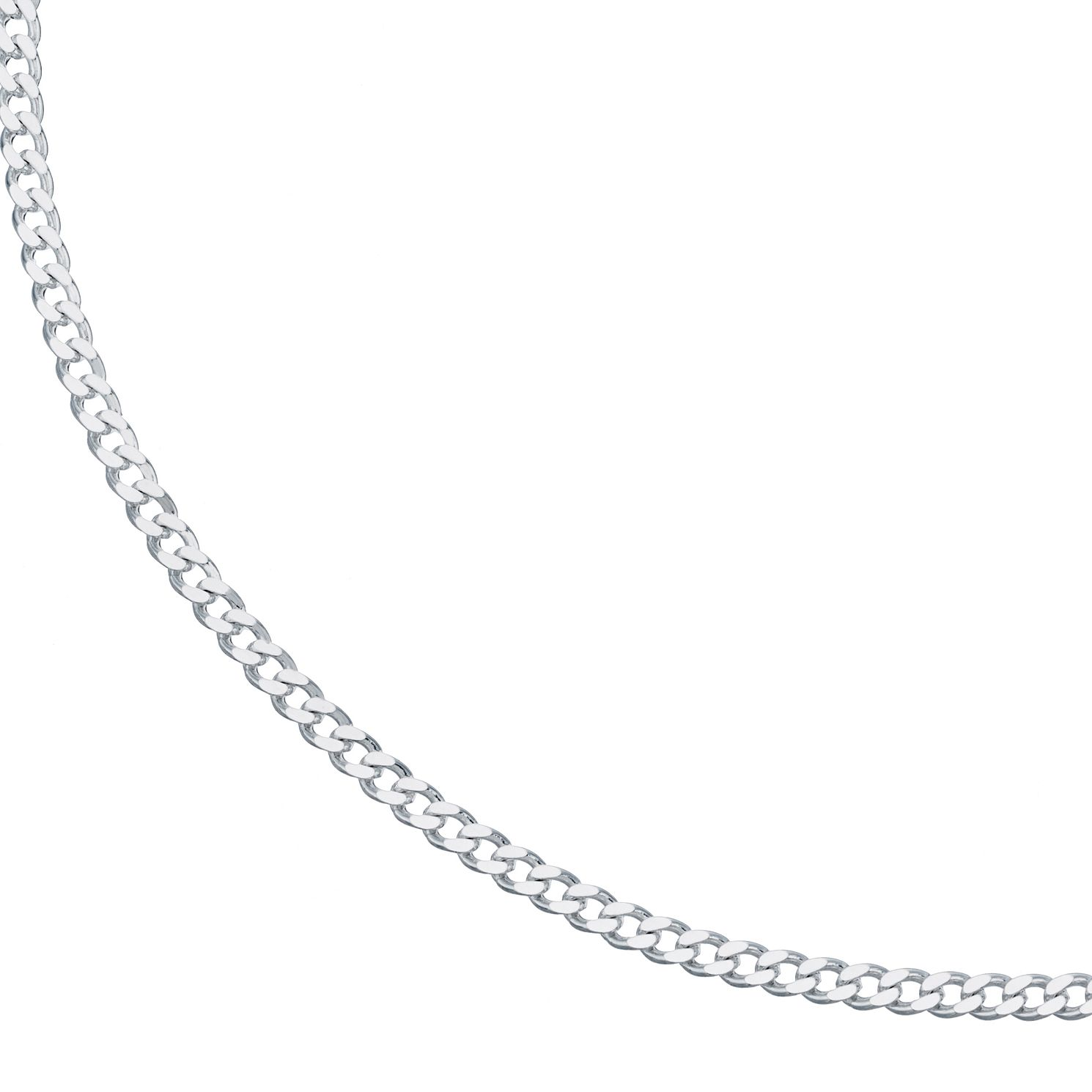 Sterling Silver 24 inches Curb Chain Necklace - Product number 3960250