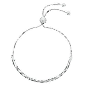 Sterling Silver Snake Chain Adjustable Bracelet - Product number 3960358