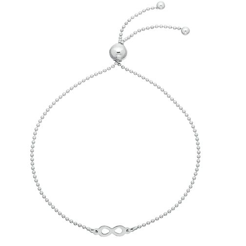 Silver Rhodium Infinity Adjustable Bracelet - Product number 3960366