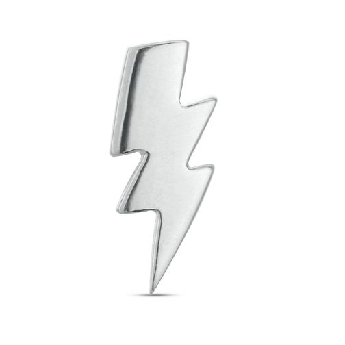 Sterling Silver Lightning Bolt Single Stud Earring - Product number 3961427
