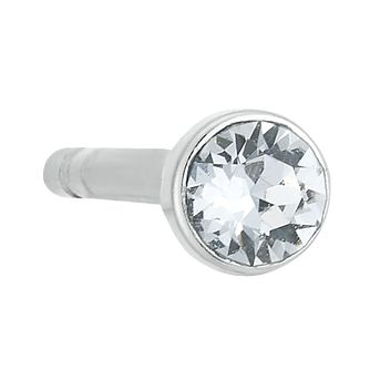Sterling Silver Crystal Single Stud Earring - Product number 3961435