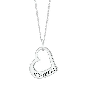 Sterling Silver Friends Forever Heart Pendant - Product number 3961567