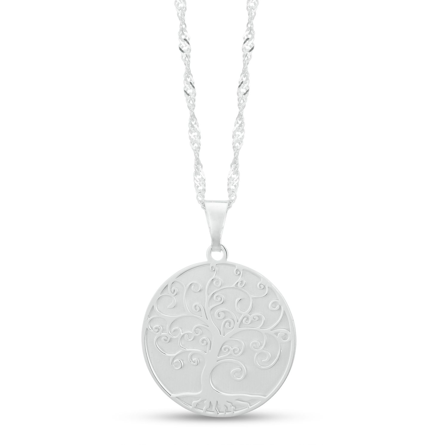 Sterling Silver Tree Of Life Disc Pendant - Product number 3961621