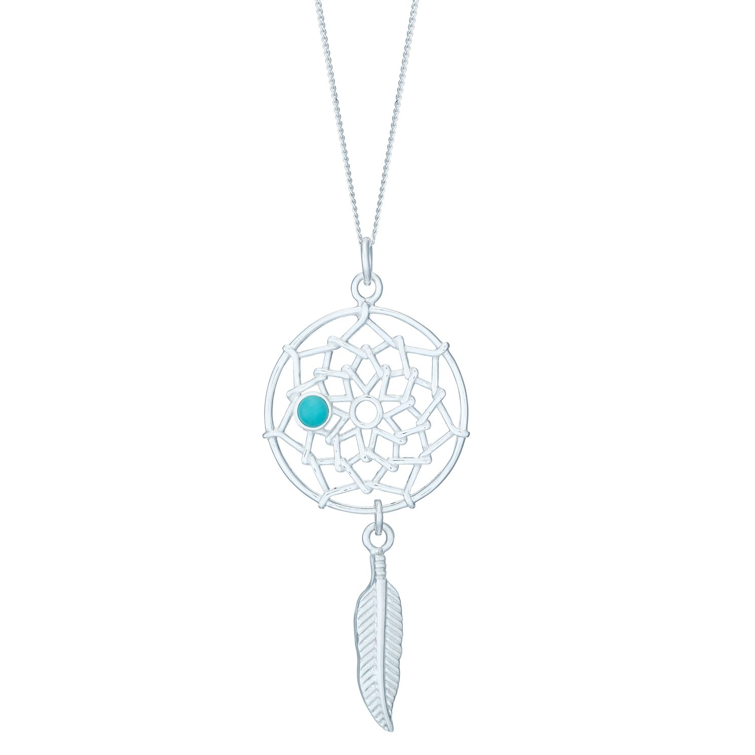 Sterling Silver Large Dreamcatcher Pendant - Product number 3961648