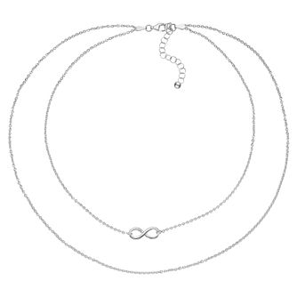 "Sterling Silver 14"" Infinity Choker - Product number 3961826"