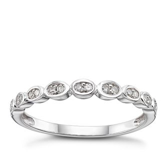 9ct White Gold 1/10ct Diamond Rubover Eternity Ring - Product number 3962490