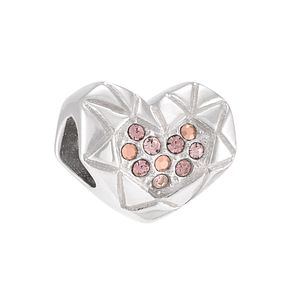 Chamilia Faceted Heart Sterling Silver & Swarovski Bead - Product number 3964361
