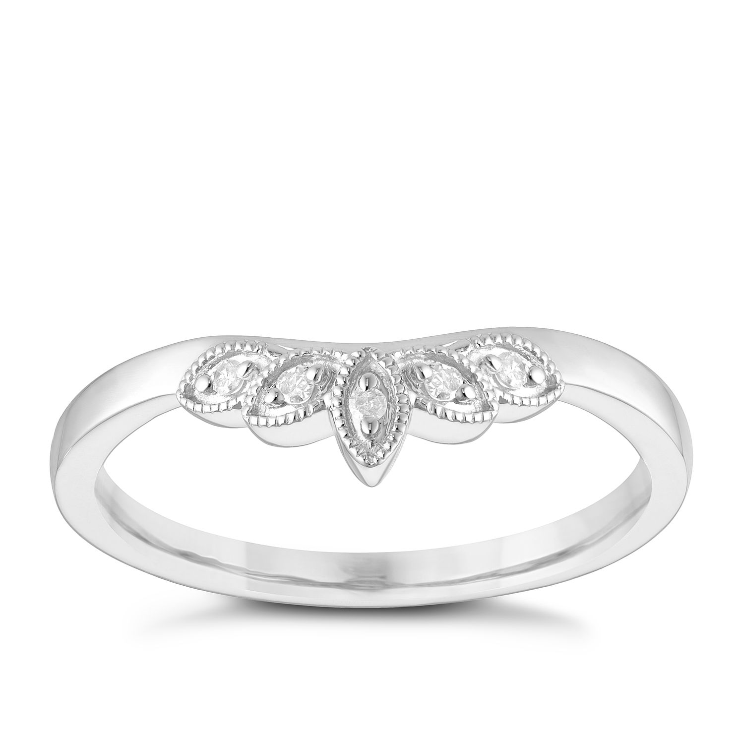 9ct White Gold Diamond Band - Product number 3965686