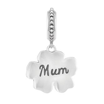 Chamilia Hibiscus Sterling Silver, Enamel & Swarovski Charm - Product number 3967166