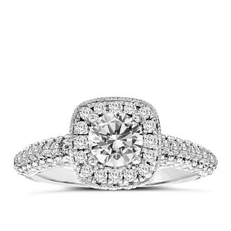 Vera Wang platinum 1.70ct diamond halo ring - Product number 3972208
