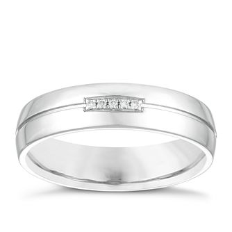 Silver Diamond Set Wedding Ring - Product number 3973700