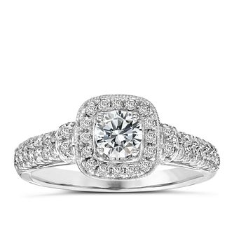 Vera Wang  Platinum 70Pt Diamond Cushion Halo Ring - Product number 3974057