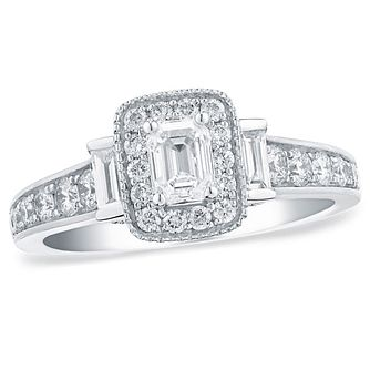 Vera Wang Platinum 0.95ct Total Diamond Engagement Ring - Product number 3974391
