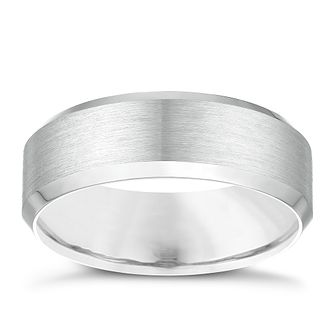 Palladium 950 7mm Bevelled Edge Wedding Ring - Product number 3976297