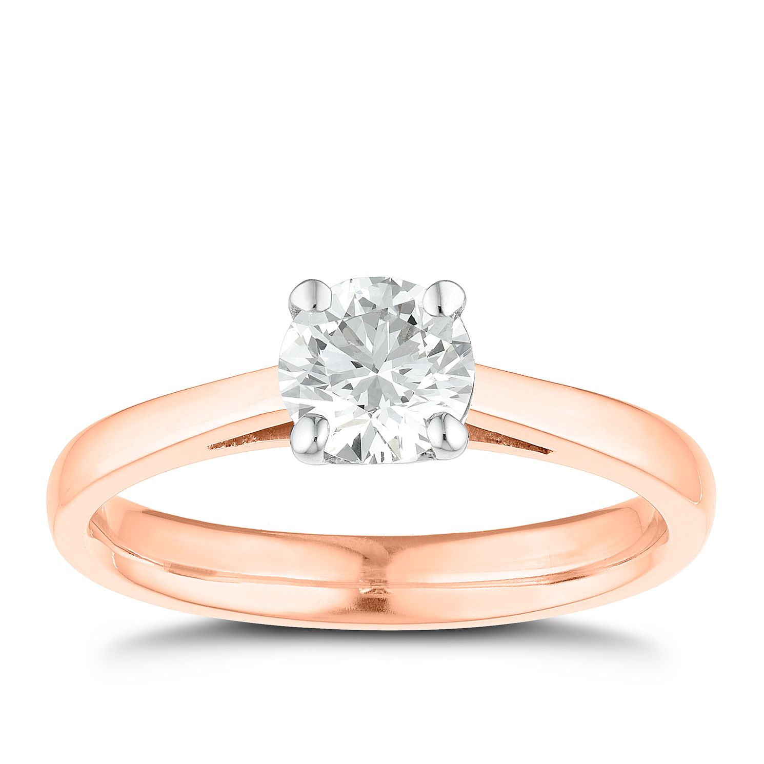 Tolkowsky 18ct Rose Gold 3/4ct I-I1 Diamond Ring - Product number 3980634