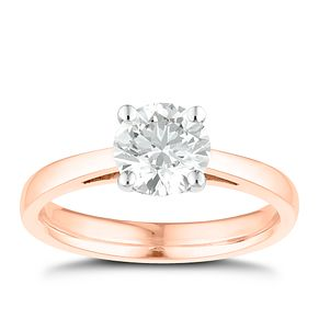 Tolkowsky 18ct rose gold 1ct I-I1 diamond ring - Product number 3980960