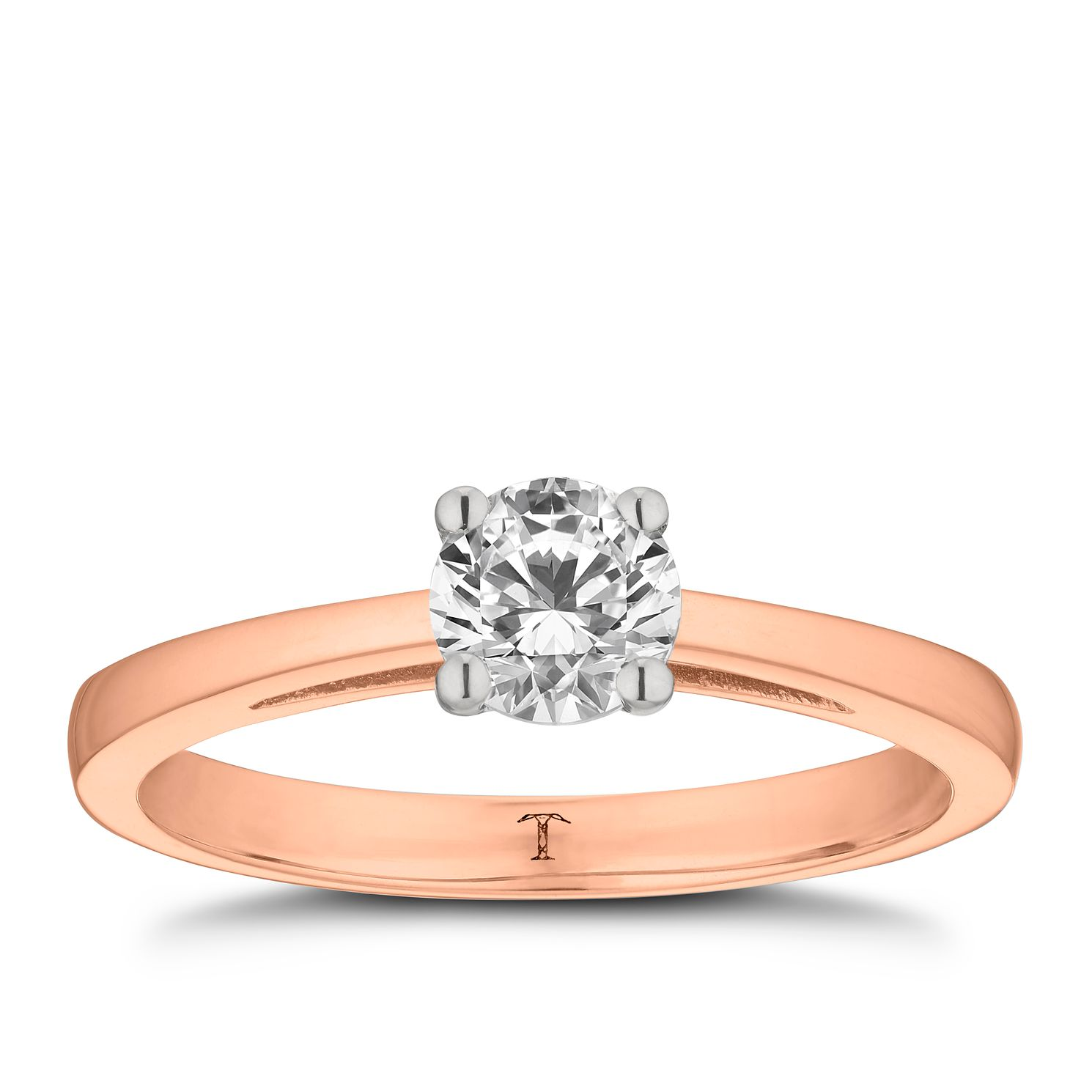 Tolkowsky 18ct Rose Gold 1/2ct Hi-S12 Diamond Ring - Product number 3982947