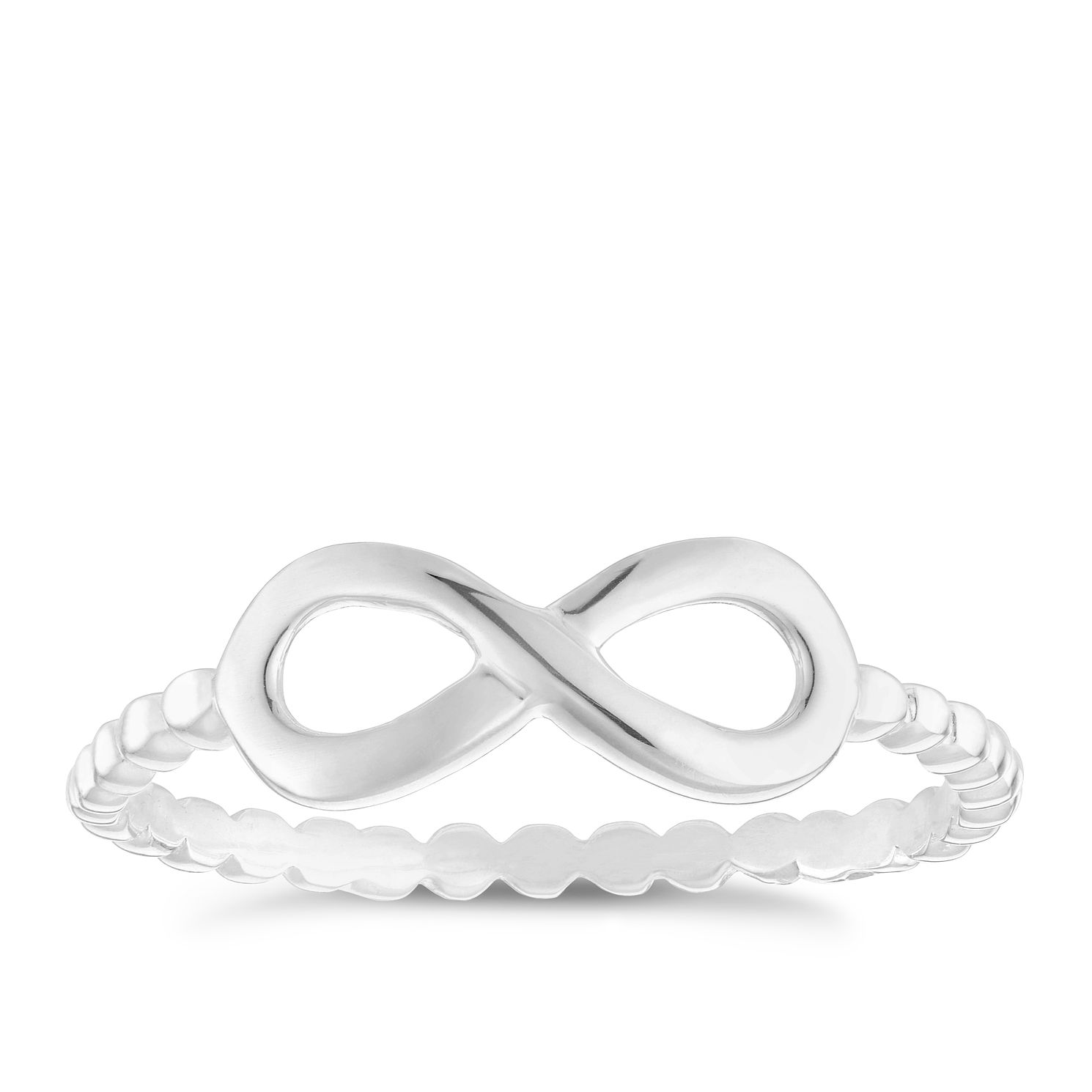 Sterling Silver Infinity Ring Size P - Product number 3994899