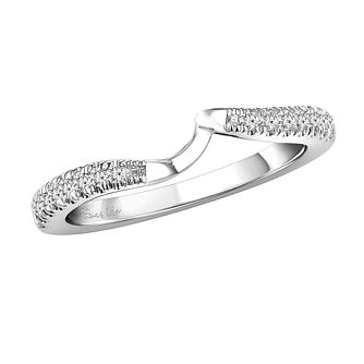 Ever Us 14ct white gold 1/5ct diamond shaped band - Product number 3999459
