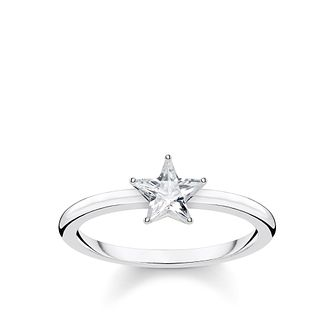 Thomas Sabo Silver Zirconia Sparkling Star Ring - Size O - Product number 4004663