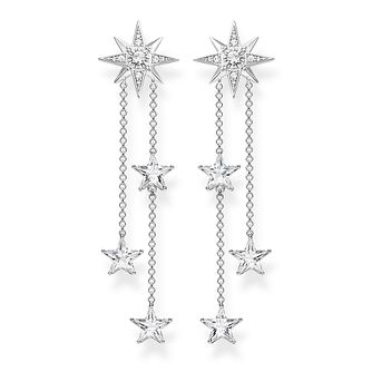 Thomas Sabo Silver Zirconia Star Drop Earrings - Product number 4004698
